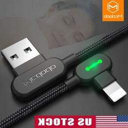 MCDODO 90 Degree USB Cable for iPhone 6 7 8 Lightning to USB