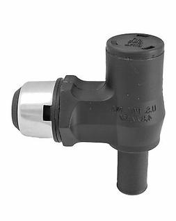 90 Fuel Tank Thru-Hull Vent Fitting, Black / Stainless Steel