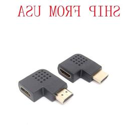 90Degree left/right  Angle Male to Female Adapter Cable Conn