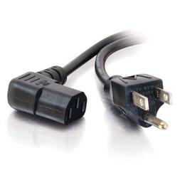 C2G 03152 18 AWG Universal Right Angle Power Cord - NEMA 5-1