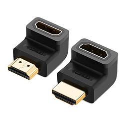 UGREEN HDMI 90 And 270 Degree Right Angle Adapter Gold Plate