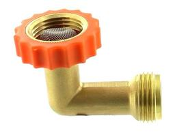 Valterra A01-0020VP Brass 90° Lead-Free Hose Saver