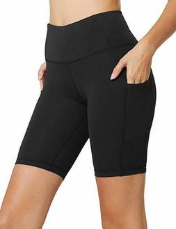 "Baleaf Women's 8"" / 5"" High Waist Workout Yoga Shorts Tummy"
