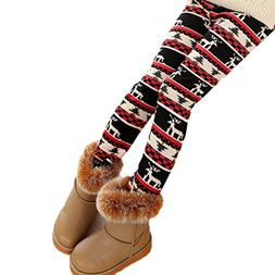 YOSUNL Big Kid's Girls Thick Tight Pants Winter Warm Pearl V