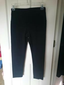 90 Degree By Reflex Black Leggings Small High Waist Capri s