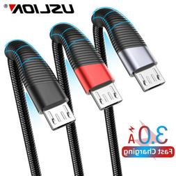Braided 90 Degree Right Angle Type C Micro USB Universal Dat