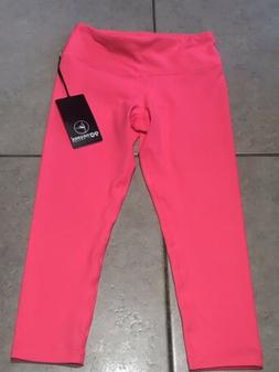 BRAND NEW 90 DEGREE BY REFLEX POWER FLEX YOGA CAPRI PINK COR