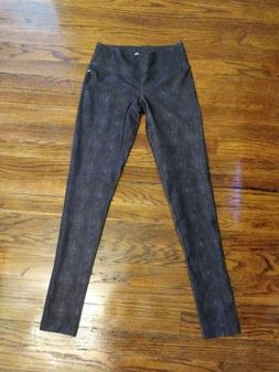 *BRAND NEW* 90 Degree by Reflex Leggings Black Denim Print S