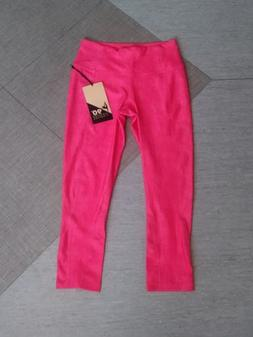 brand new leggings neon pink denim print