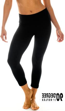"90 Degree By Reflex  22"" Yoga Capris Yoga Leggings Yoga Capr"