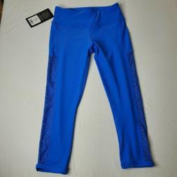 90 Degree By Reflex Womens Capri Leggings, Blue mech, Size S