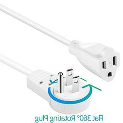 cable 14awg rotating flat plug