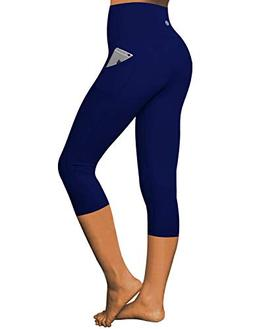 BUBBLELIME High Compression Yoga Capris Out Pocket Running C