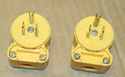 Electrical male plug 90 degree adjustable angle positions -
