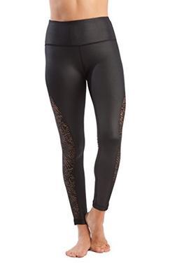 fashion yoga leggings with sleek mesh panels