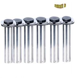 4PCS 90 Degree Flush Mount Stainless Steel Rod Holders Rubbe