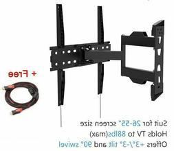 Full Motion Articulating Tilt Swivel TVs Wall Mount Bracket