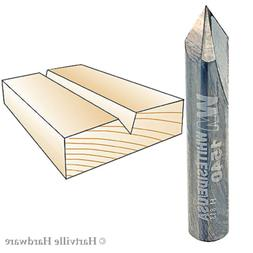 Whiteside Router Bits 1540 V-Groove 60-Degree 1/4-Inch Cutti