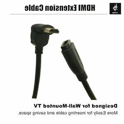 HDMI 2.0 90 Degree Male to Female Cable High Speed Extender
