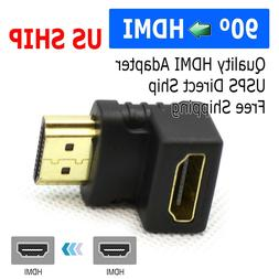 HDMI 90 Degree L Shaped Connector Cable Male to Female Adapt