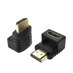 HDMI 90 Degree L Shaped Connectors Cable Male to Female Adap