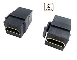 Poyiccot HDMI Coupler Keystone Jack,  Gold-Plated HDMI Femal
