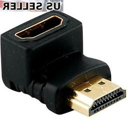 Right-toward Seadream 20 50CM 90 Degree HDMI Right-toward Male to HDMI Female Cable Adapter Connector