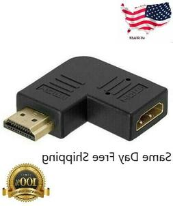 HDMI Right Angle Port Saver M/F Adapter - Vertical Flat Left
