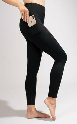 90 Degree By Reflex High Waist Fleece Lined Leggings - Yoga