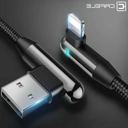 I-phone Lightning 90 Degree LED USB Charger Cable for iPhone