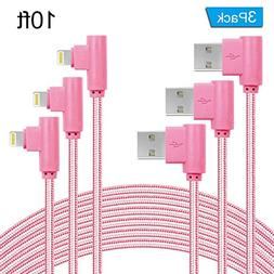 ANSEIP 90 Degree iPhone Cable 3 Pack Right Angle lightning C