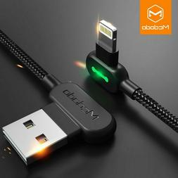 MCDODO 90 Degree Lightning USB Cable For Apple iPhone 11 MAX
