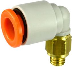 SMC KQ2L07-32A PBT & Brass Push-to-Connect Tube Fitting, 90