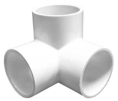 "1-1/2"" Socket PVC 90 Degree Elbow Side Outlet LASCO 413015"