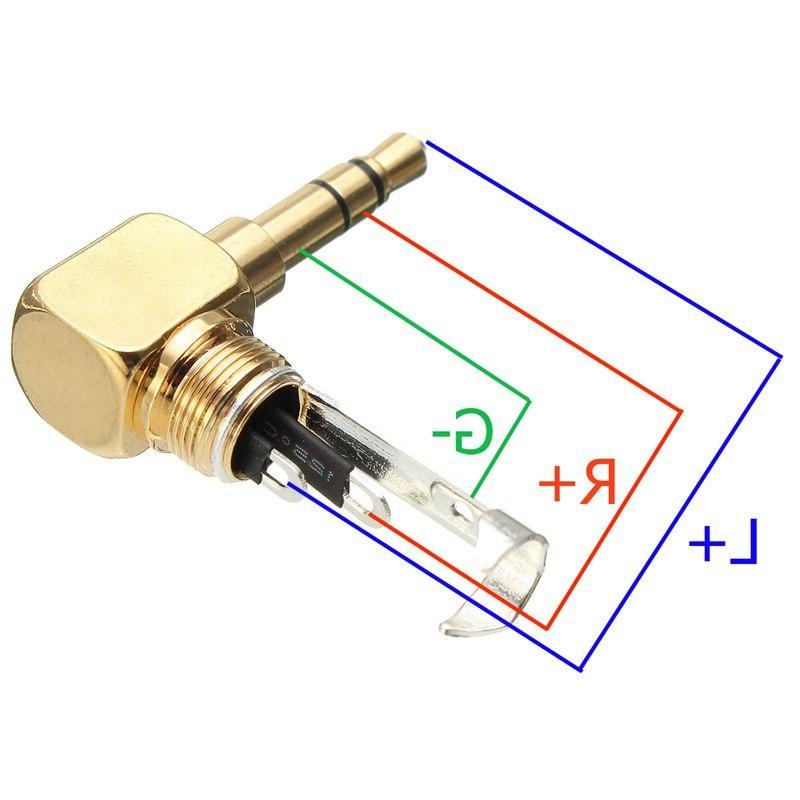 LEORY 3.5mm 3 Male Plug Audio Solder