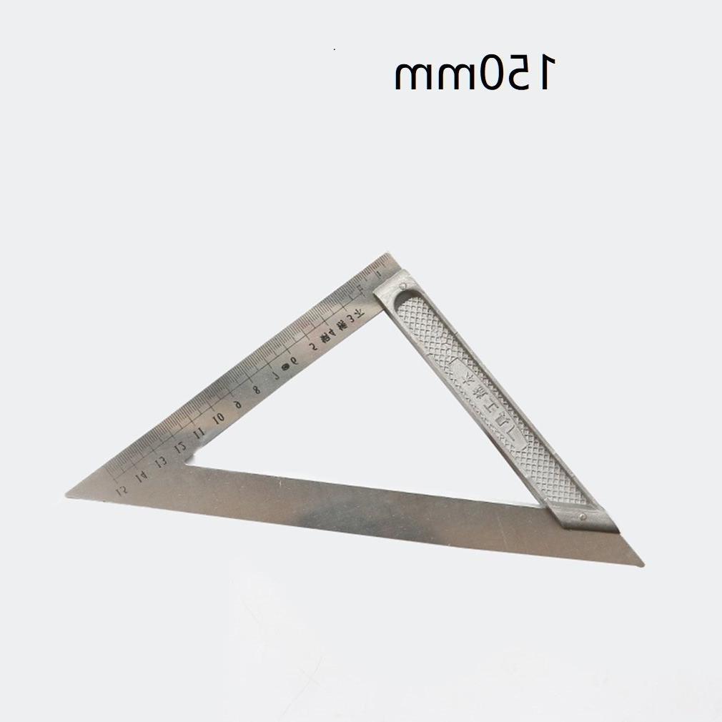 150mm/200mm <font><b>Degree</b></font> Steel Triangular Ruller Measuring Tool