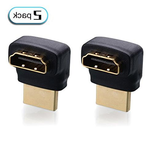 2-Pack, 270 Degree HDMI Male