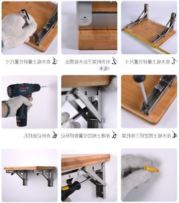 2PCS Table Folding Bracket Stainless Degree