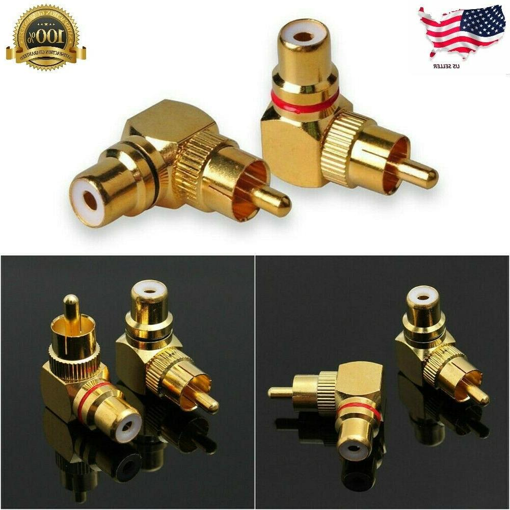 2pcs 90 degree adapters brass right angle