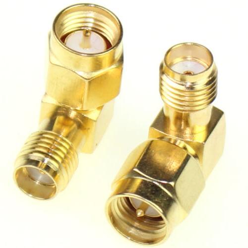 2Pcs SMA Male To SMA Female RF Connector Adapter Plug Jack 9
