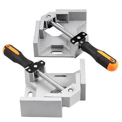 2X Clamp Right Angle Woodworking Vice Wood Metal Welding tool