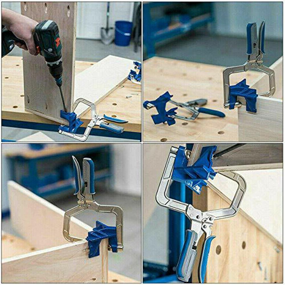 2x Angle Corner Wood for Jig Clamps Tool