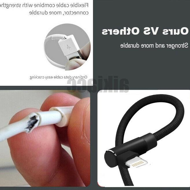 3/2/1M Degree Angle Cable Apple iPhone iPad