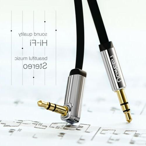 Ugreen 3.5mm Right Angle Flat Jack Audio Cable Car iPhone