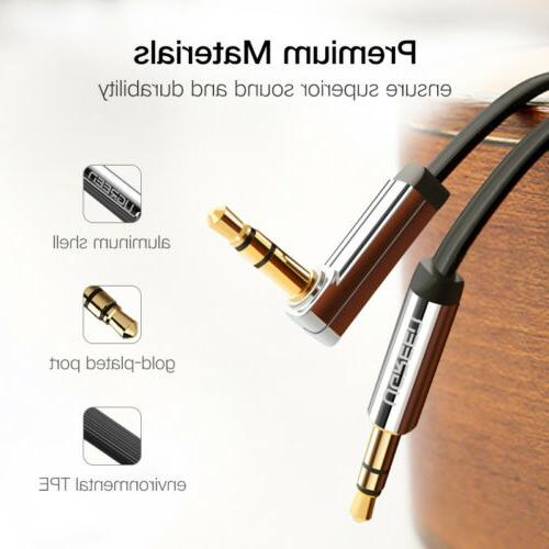 Ugreen 3.5mm 90 Right Flat Jack Audio iPhone MP3/4