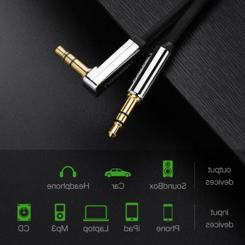 Ugreen 90 Right Flat Jack Audio Cable iPhone MP3/4