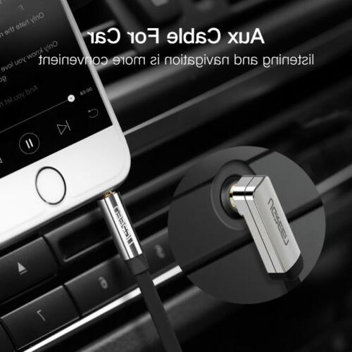 Ugreen 90 Degree Right Angle Audio Cable For Car iPhone
