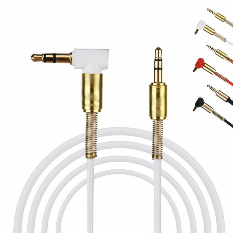 3.5mm Jack Cable 3.3FT Angle Flat Male