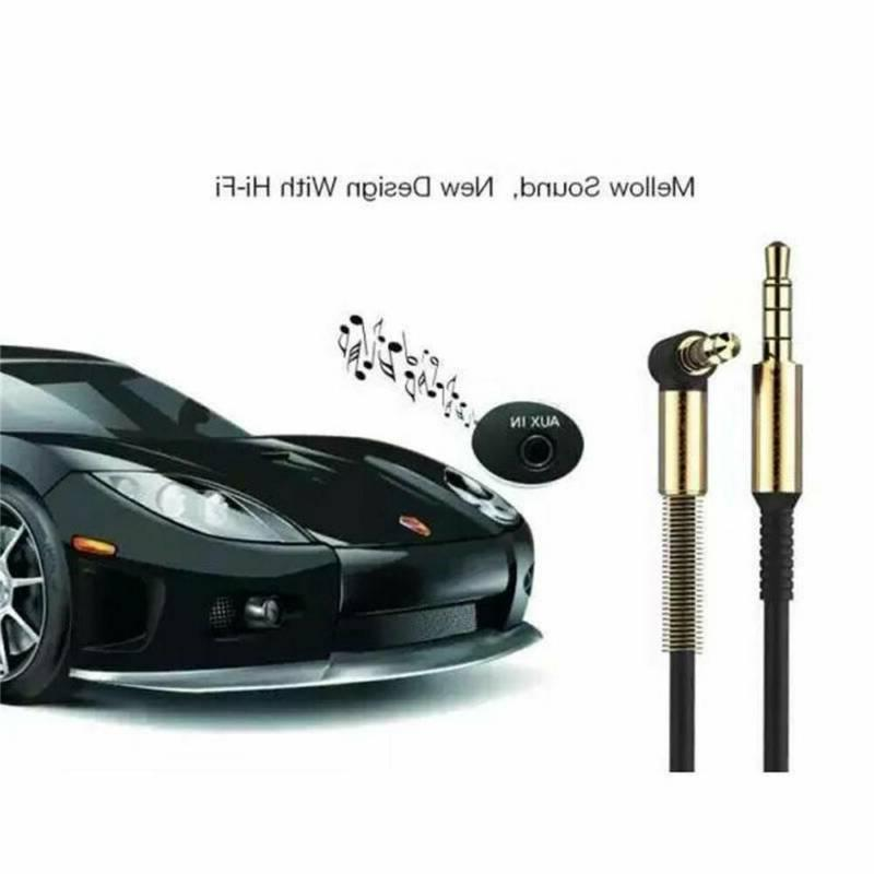 3.5mm Cable Male Degree Right Angle Flat Aux
