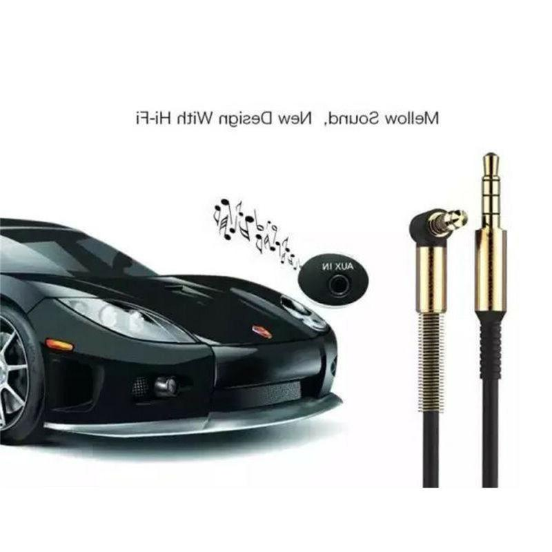3.5mm Jack Cord Audio Male To Male Right Angle